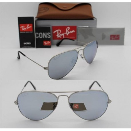 ray ban 58mm aviator polarized