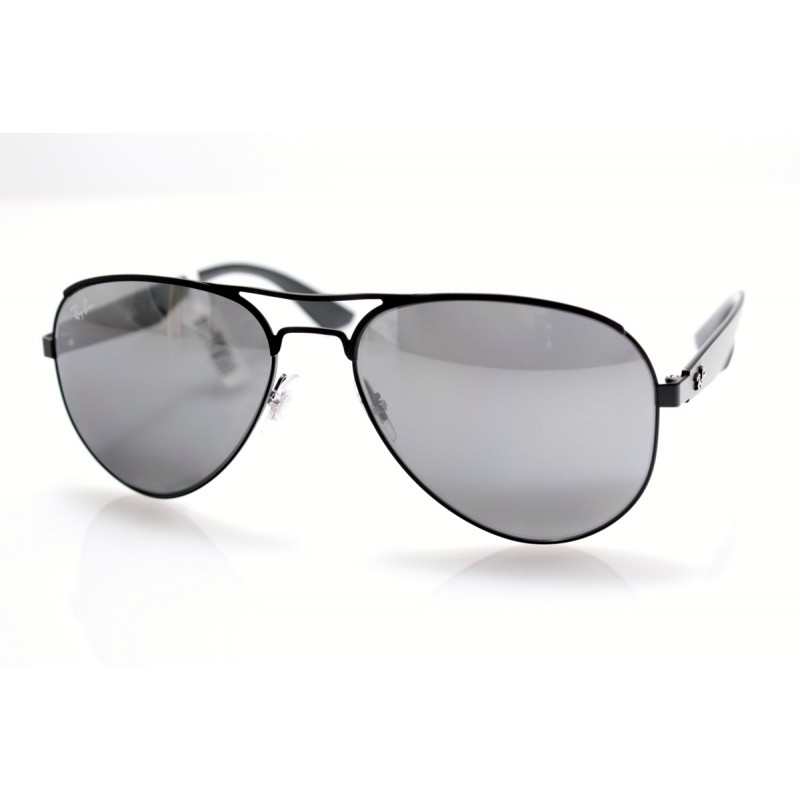 92d5733f887 Ray-Ban Aviator Sunglasses in Matte Black Mirror RB3523 006 6G 59 ...